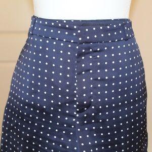 Navy blue Banana Republic silk polka dot shorts